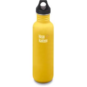 Klean Kanteen Classic Bottle Loop Cap 800ml, lemon curry matt